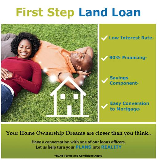 Eastern caribbean amalgamated bank ecab for Land home mortgage